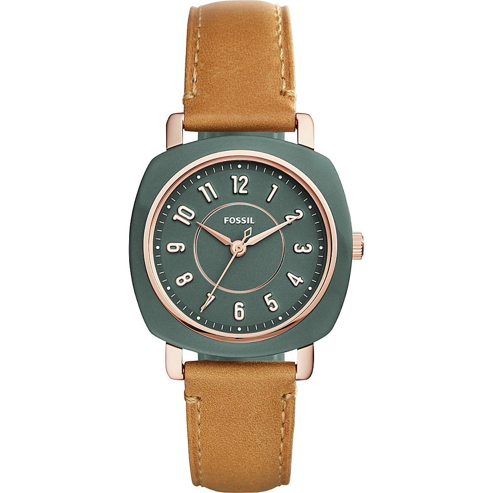 Fossil Idealist Three-Hand Tan Leather Watch Brown - Fossil Watches - Fashion Accessories, Watches