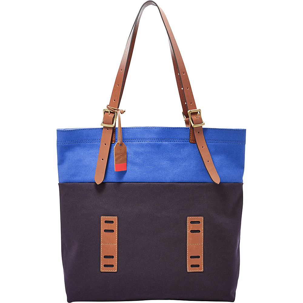 Fossil Defender Tote Navy - Fossil Leather Handbags - Handbags, Leather Handbags