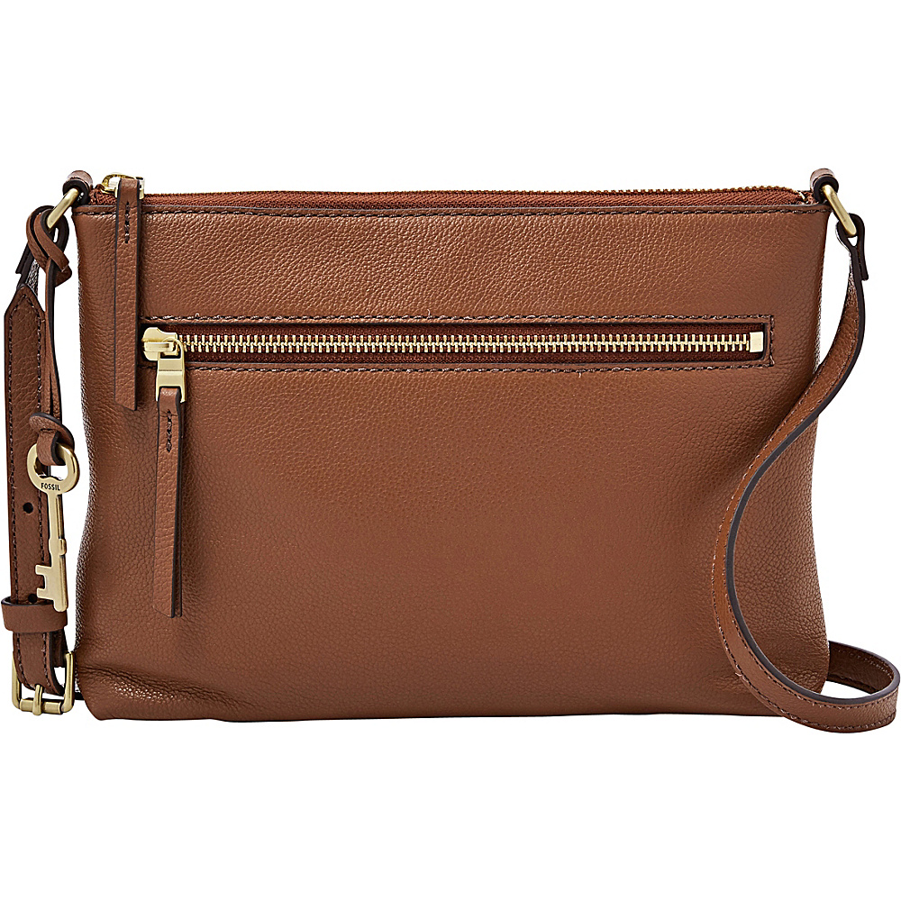 Fossil Fiona EW Crossbody Medium Brown - Fossil Leather Handbags - Handbags, Leather Handbags