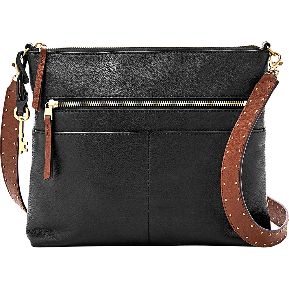 Fossil Fiona Large Crossbody Black - Fossil Leather Handbags - Handbags, Leather Handbags