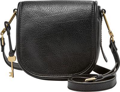 Fossil Rumi Small Crossbody Black - Fossil Leather Handbags