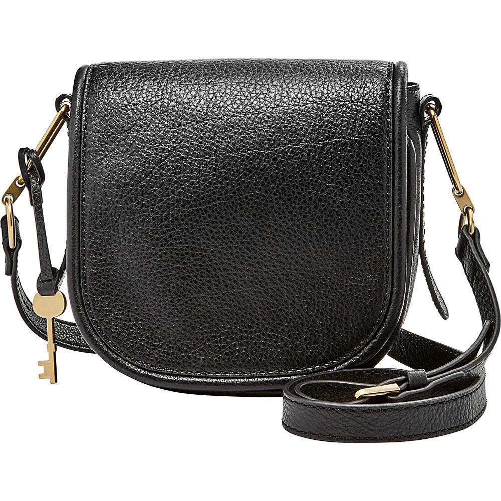 Fossil Rumi Small Crossbody Black - Fossil Leather Handbags - Handbags, Leather Handbags