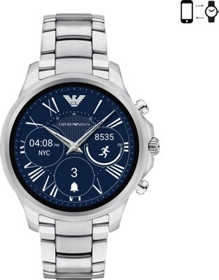 Emporio Armani Full Display Smartwatch Silver - Emporio Armani Wearable Technology