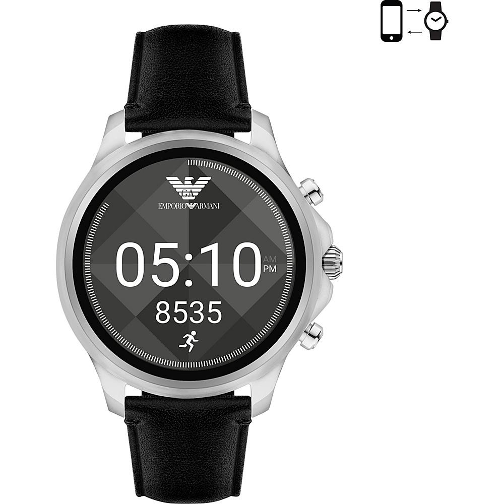 Emporio Armani Full Display Smartwatch Black/Silver - Emporio Armani Wearable Technology