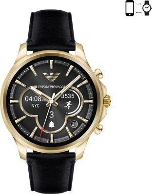 Emporio Armani Full Display Smartwatch Black/Gold - Emporio Armani Wearable Technology