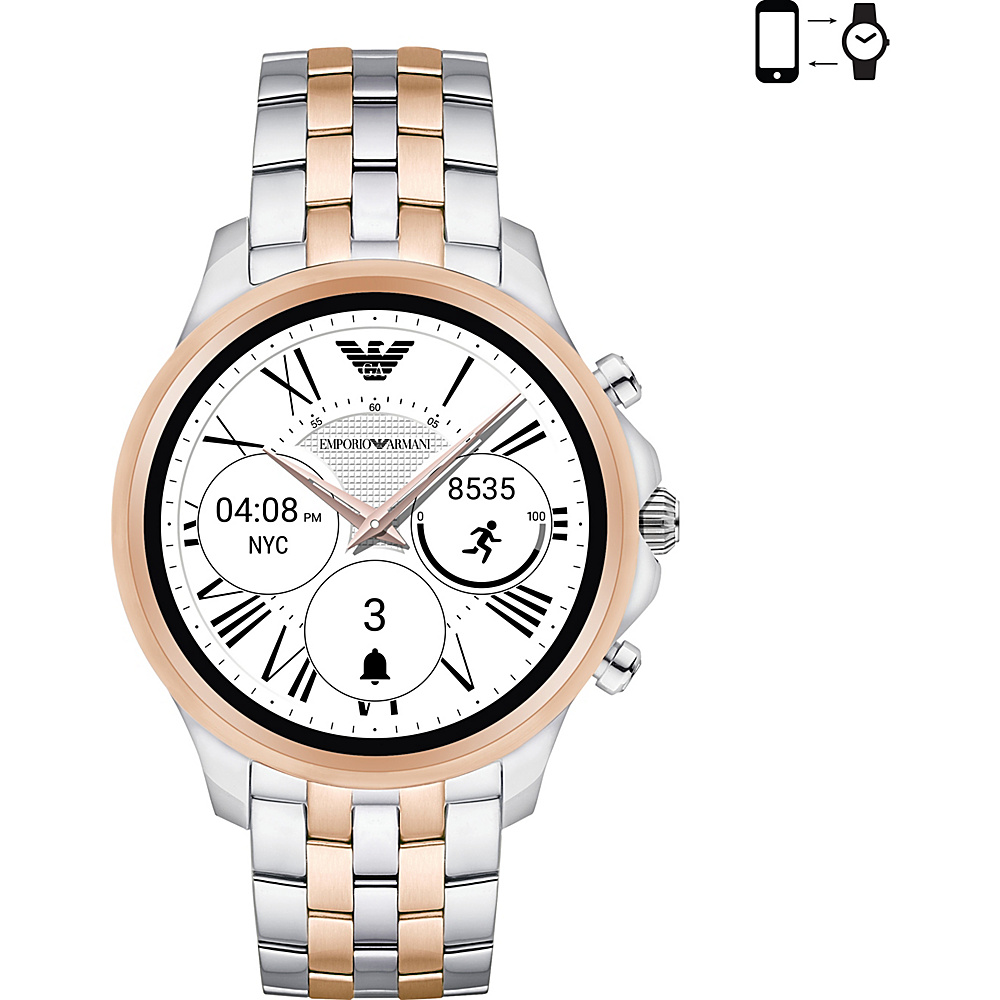Emporio Armani Full Display Smartwatch Silver/RoseGold - Emporio Armani Wearable Technology