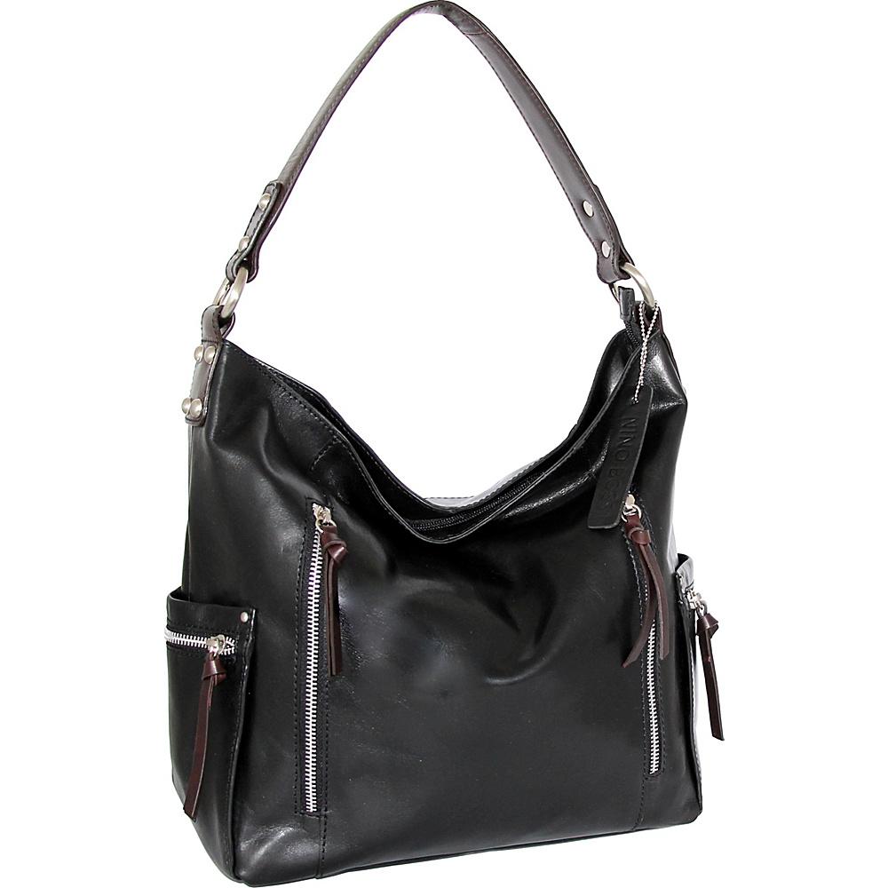 Nino Bossi Justice Shoulder Bag Black - Nino Bossi Leather Handbags - Handbags, Leather Handbags