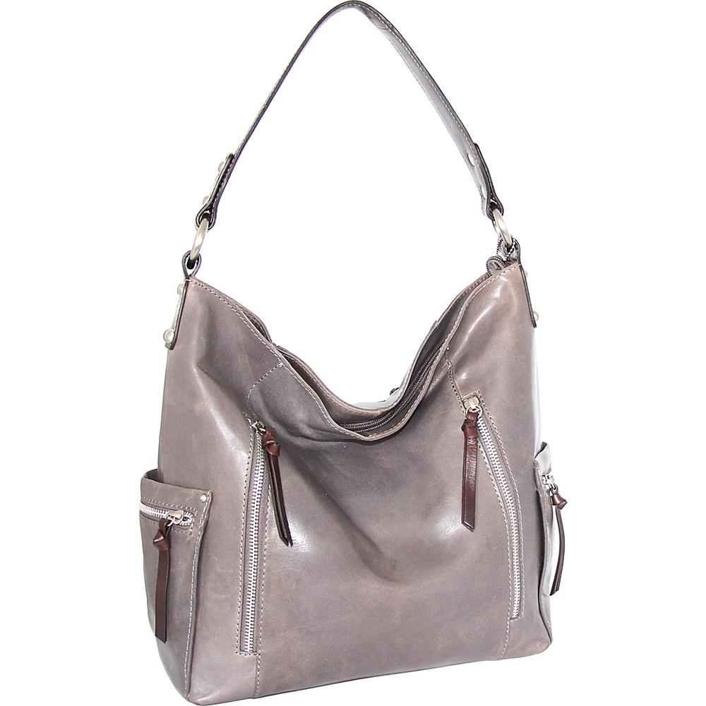 Nino Bossi Justice Shoulder Bag Stone - Nino Bossi Leather Handbags - Handbags, Leather Handbags