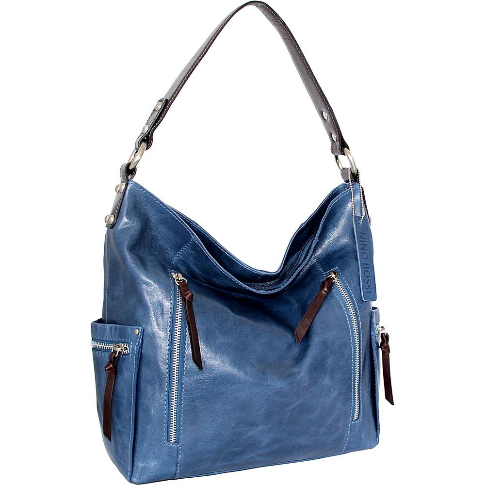 Nino Bossi Justice Shoulder Bag Denim - Nino Bossi Leather Handbags - Handbags, Leather Handbags