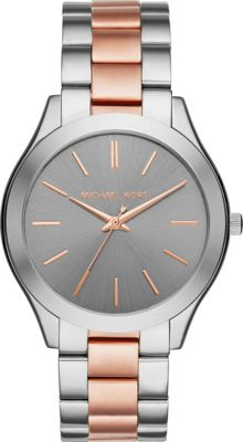 Michael Kors Watches Michael Kors Watches Slim Runway Three-Hand Watch Silver - Michael Kors Watches Watches