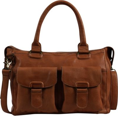 Day & Mood Aya Satchel Cognac - Day & Mood Leather Handbags