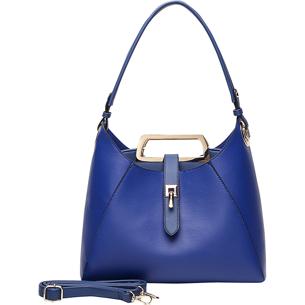 MKF Collection by Mia K. Farrow Beatrice Hobo Blue - MKF Collection by Mia K. Farrow Manmade Handbags - Handbags, Manmade Handbags