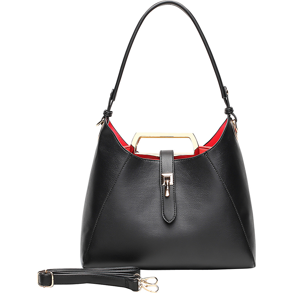 MKF Collection by Mia K. Farrow Beatrice Hobo Black - MKF Collection by Mia K. Farrow Manmade Handbags - Handbags, Manmade Handbags