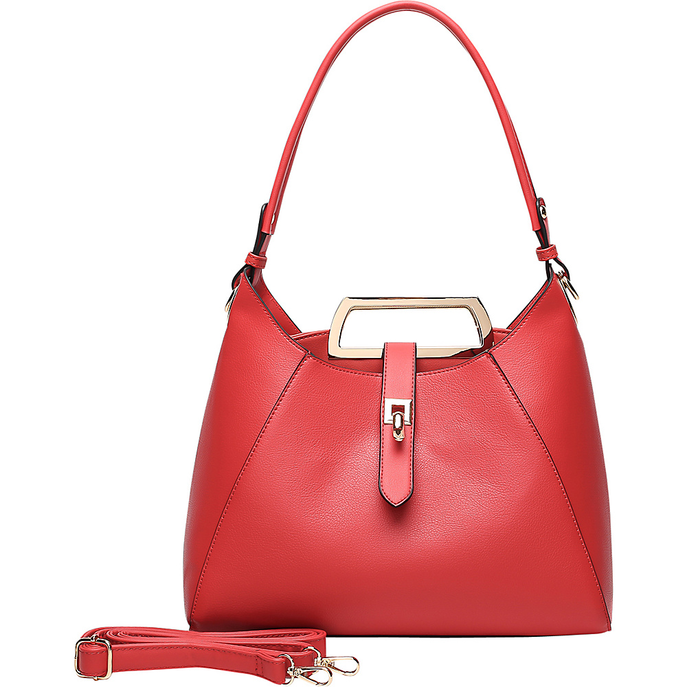 MKF Collection by Mia K. Farrow Beatrice Hobo Red - MKF Collection by Mia K. Farrow Manmade Handbags - Handbags, Manmade Handbags