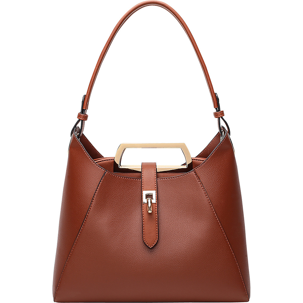 MKF Collection by Mia K. Farrow Beatrice Hobo Brown - MKF Collection by Mia K. Farrow Manmade Handbags - Handbags, Manmade Handbags