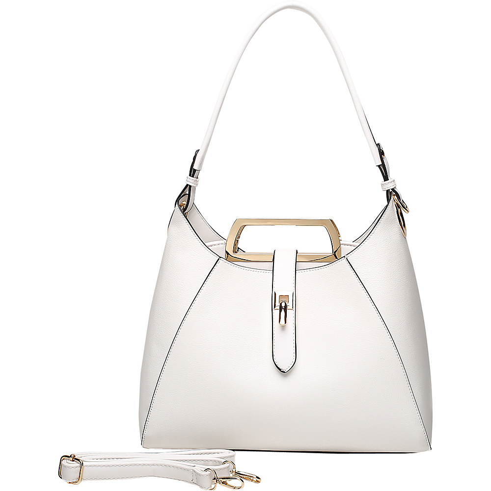 MKF Collection by Mia K. Farrow Beatrice Hobo White - MKF Collection by Mia K. Farrow Manmade Handbags - Handbags, Manmade Handbags