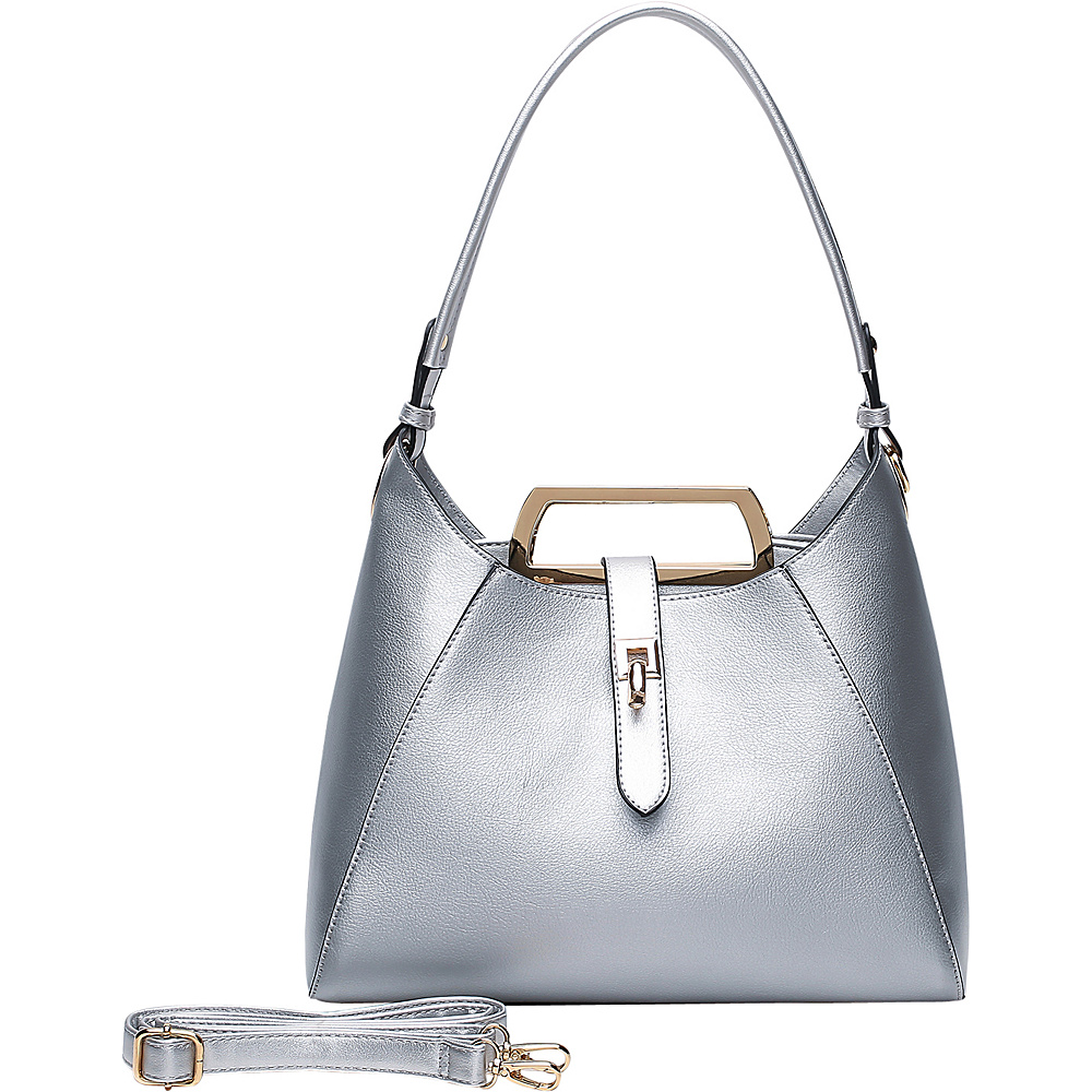 MKF Collection by Mia K. Farrow Beatrice Hobo Silver - MKF Collection by Mia K. Farrow Manmade Handbags - Handbags, Manmade Handbags