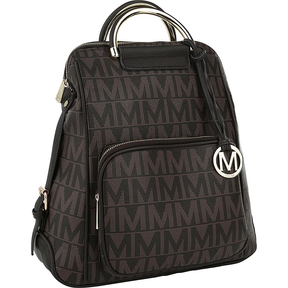 MKF Collection by Mia K. Farrow Cora M Signature Backpack Chocolate - MKF Collection by Mia K. Farrow Manmade Handbags - Handbags, Manmade Handbags