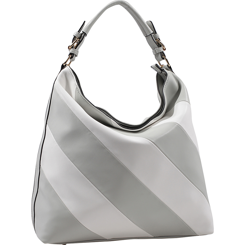 MKF Collection by Mia K. Farrow Yamileth Hobo Light Grey - MKF Collection by Mia K. Farrow Manmade Handbags - Handbags, Manmade Handbags