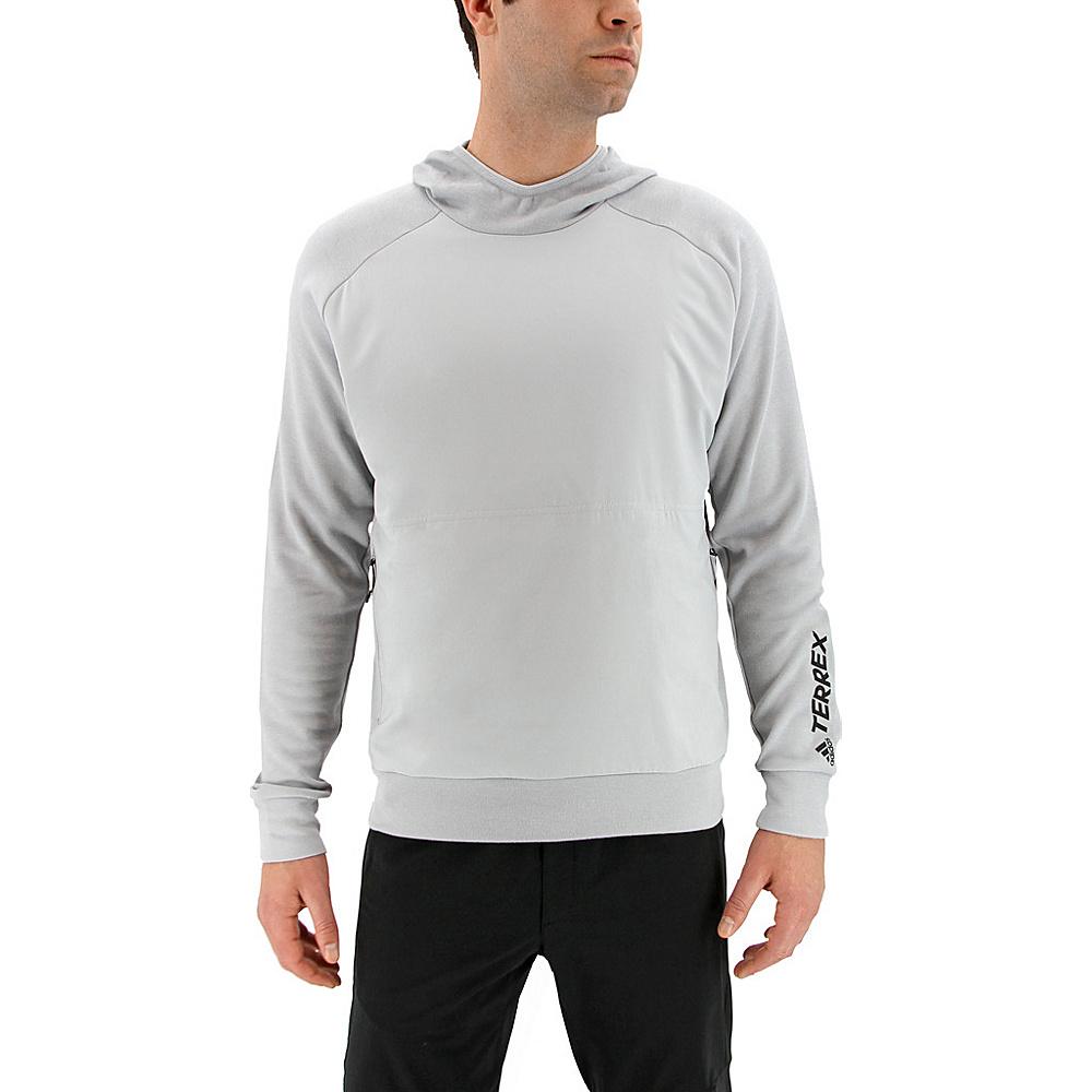 adidas outdoor Mens Terrex Climb The City Wool Hoodie 2XL - Clear Onix - adidas outdoor Mens Apparel - Apparel & Footwear, Men's Apparel