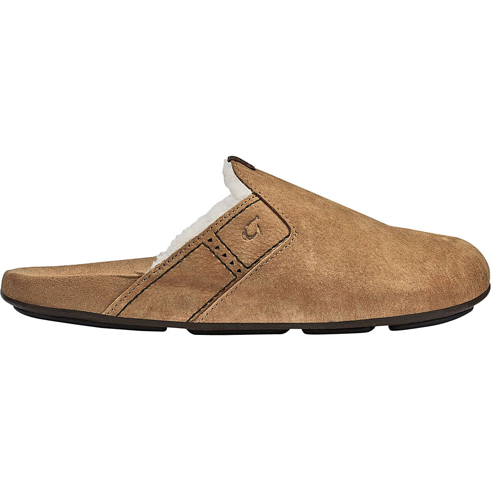 OluKai Mens Noho Kai Winter Slipper 14 - Tobacco/Tobacco - OluKai Mens Footwear - Apparel & Footwear, Men's Footwear