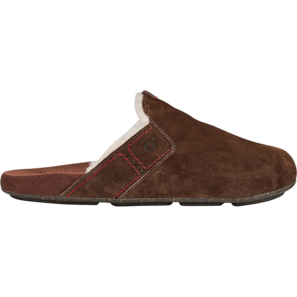 OluKai Mens Noho Kai Winter Slipper 8 - Dark Java/Dark Java - OluKai Mens Footwear - Apparel & Footwear, Men's Footwear