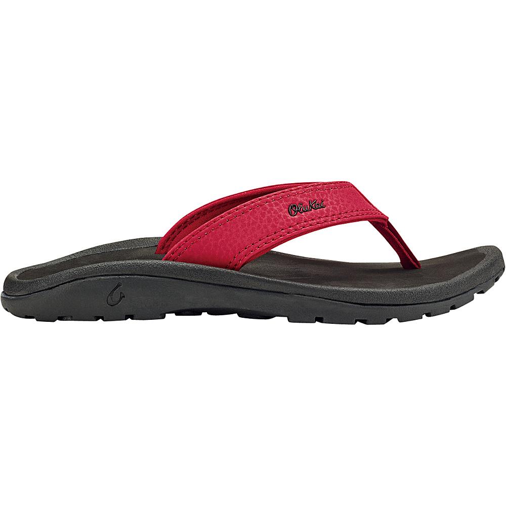 OluKai Boys Ohana Sandal XS (US Kids) - Deep Red/Black - OluKai Mens Footwear - Apparel & Footwear, Men's Footwear