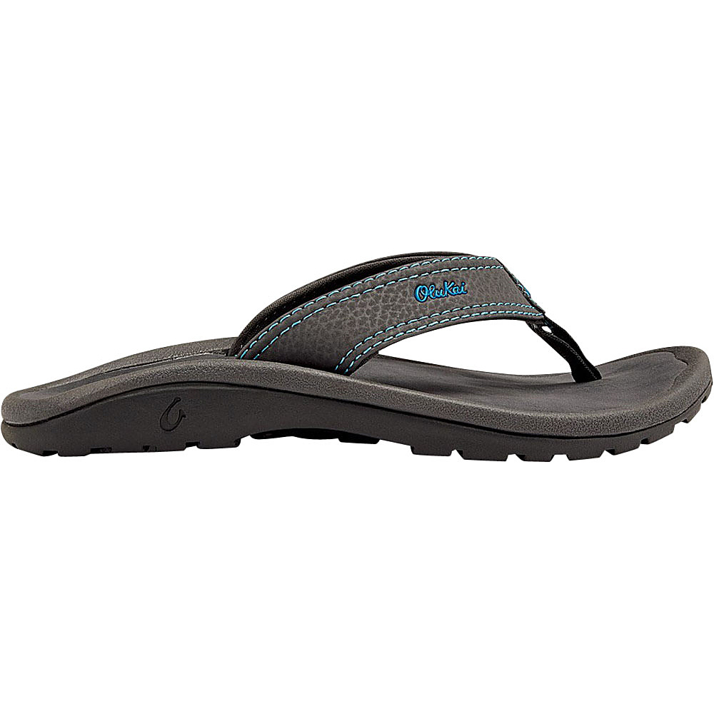 OluKai Boys Ohana Sandal M (US Kids) - Dark Shadow/Scuba - OluKai Mens Footwear - Apparel & Footwear, Men's Footwear