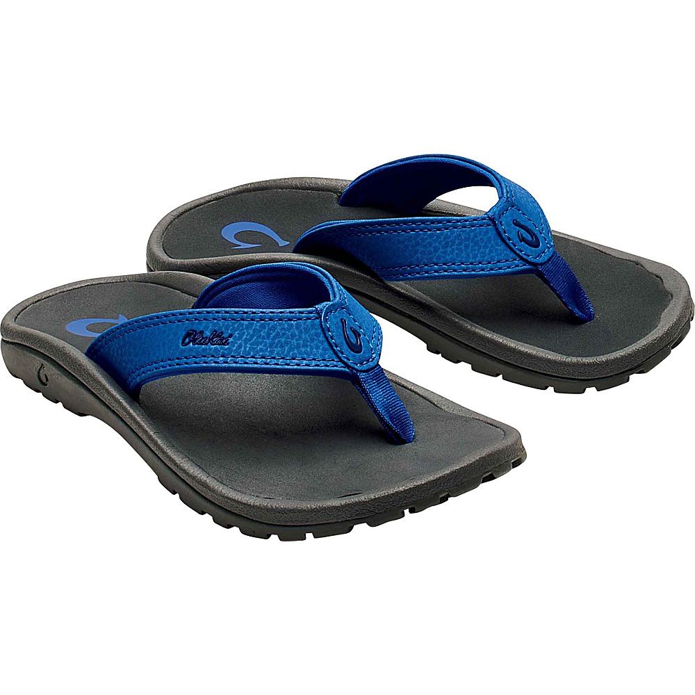 OluKai Boys Ohana Sandal 11 (US Kids) - Aqua Blue/Dark Shadow - OluKai Mens Footwear - Apparel & Footwear, Men's Footwear