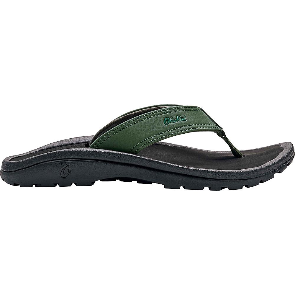 OluKai Boys Ohana Sandal 11 (US Kids) - Sea Grass/Black - OluKai Mens Footwear - Apparel & Footwear, Men's Footwear