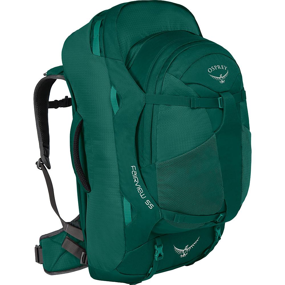Osprey Womens Fairview 55L Travel Backpack Rainforest Green S/M - Osprey Travel Backpacks - Backpacks, Travel Backpacks