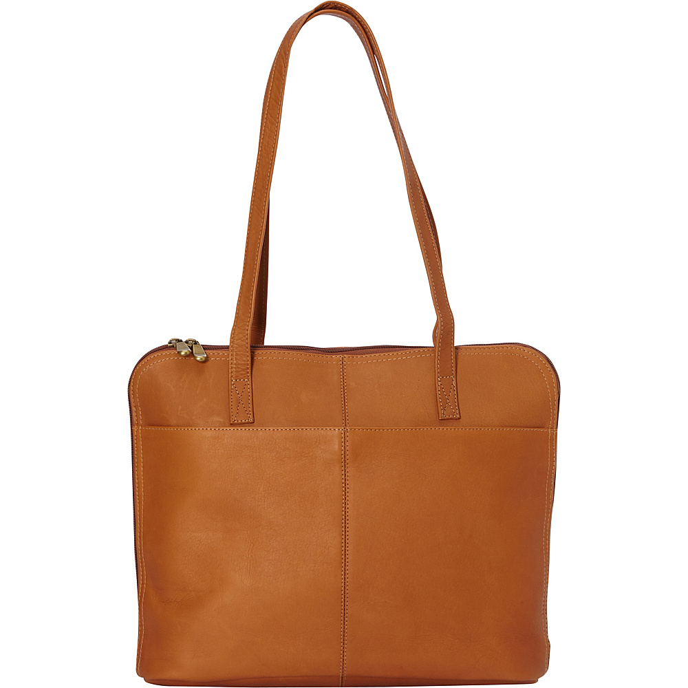 Le Donne Leather Moderno Business Tote Tan - Le Donne Leather Leather Handbags - Handbags, Leather Handbags