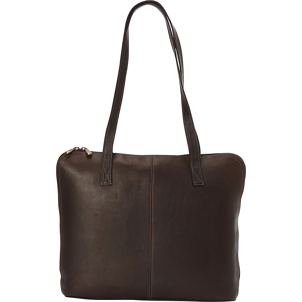 Le Donne Leather Moderno Business Tote Cafe - Le Donne Leather Leather Handbags - Handbags, Leather Handbags
