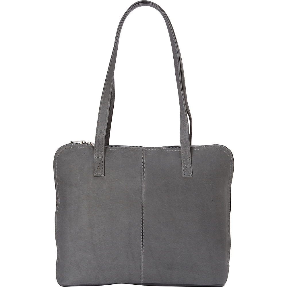 Le Donne Leather Moderno Business Tote Gray - Le Donne Leather Leather Handbags - Handbags, Leather Handbags