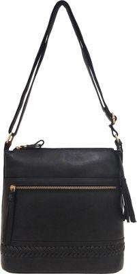 Great American Leatherworks Braid and Tassel Crossbody Black - Great American Leatherworks Leather Handbags