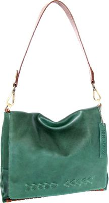 Nino Bossi Alissa Shoulder Bag Green - Nino Bossi Leather Handbags