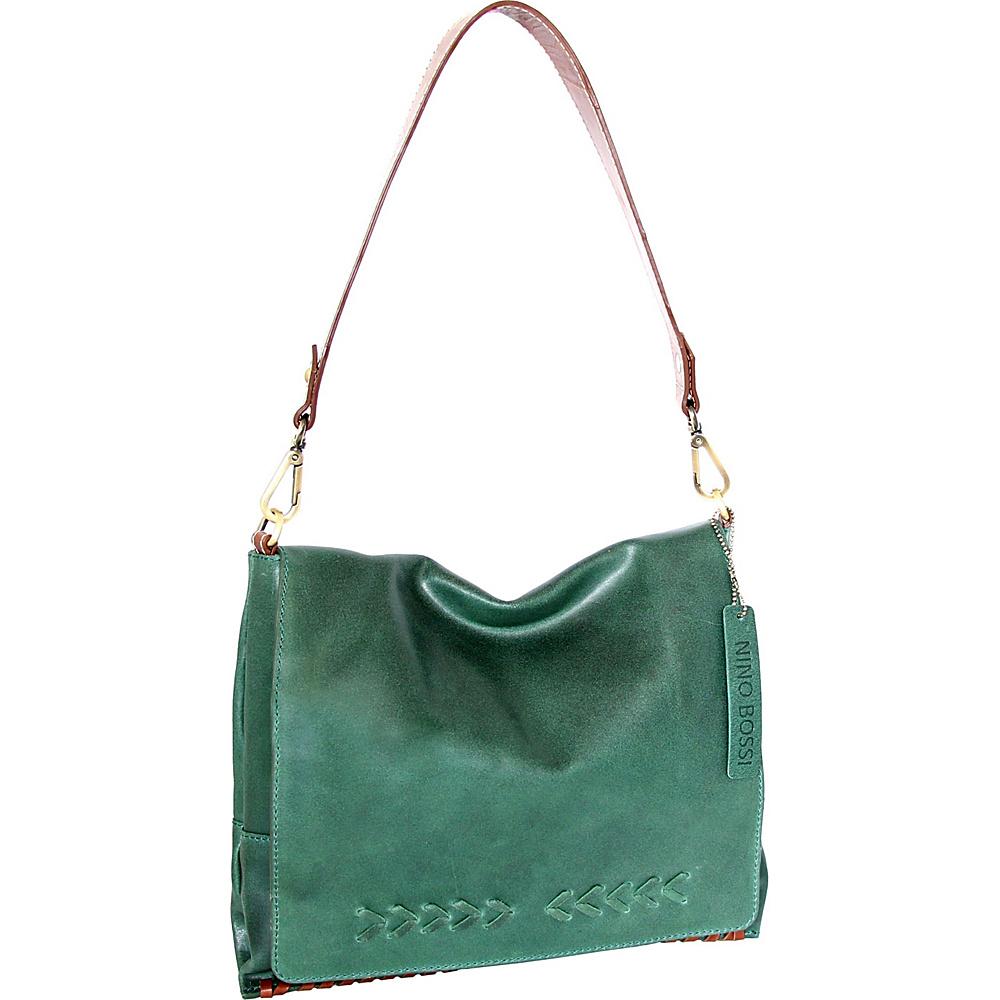 Nino Bossi Alissa Shoulder Bag Green - Nino Bossi Leather Handbags - Handbags, Leather Handbags