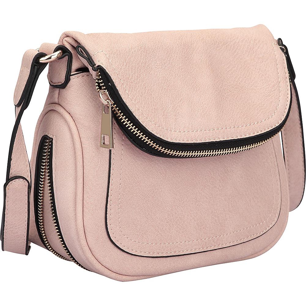 Dasein Front Flap Crossbody Bag Pink - Dasein Manmade Handbags - Handbags, Manmade Handbags