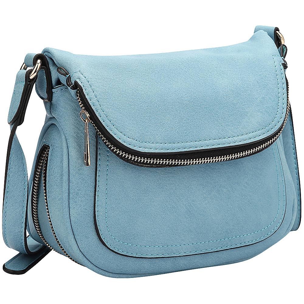 Dasein Front Flap Crossbody Bag Niagara Blue - Dasein Manmade Handbags - Handbags, Manmade Handbags