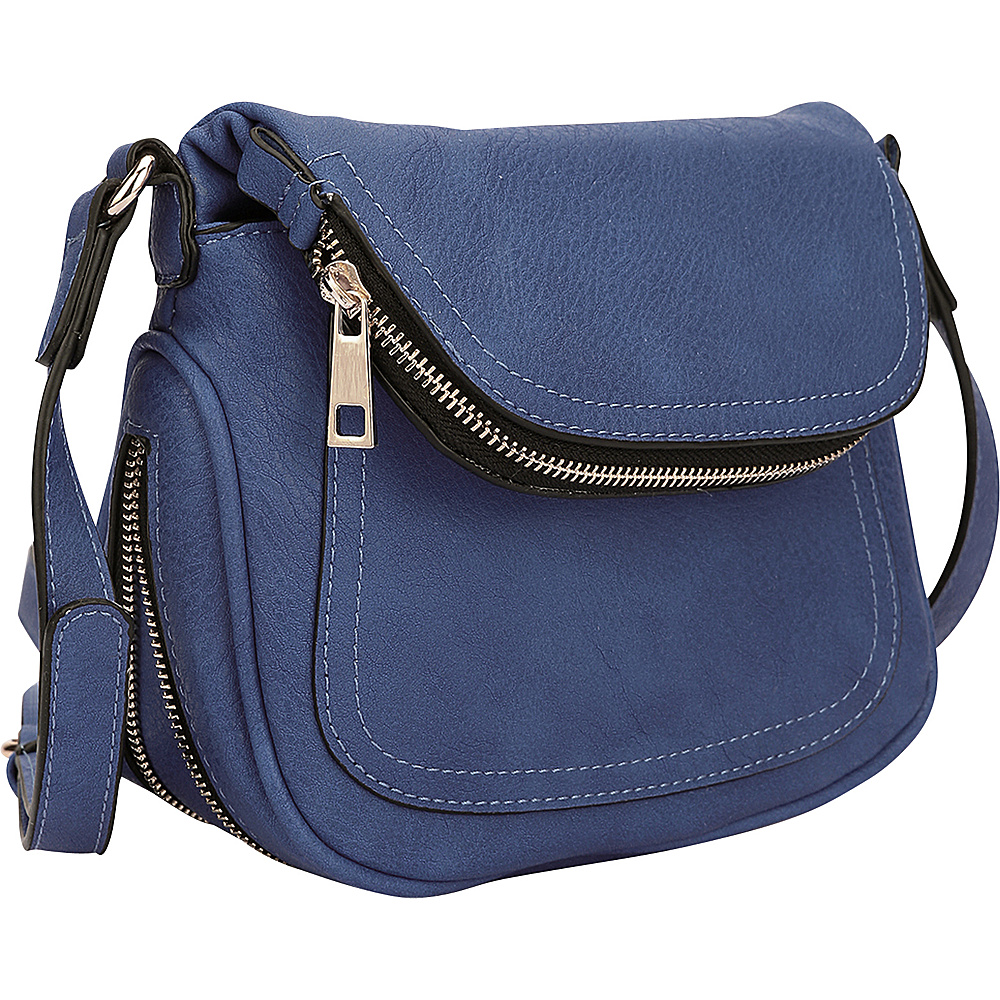 Dasein Front Flap Crossbody Bag Royal Blue - Dasein Manmade Handbags - Handbags, Manmade Handbags