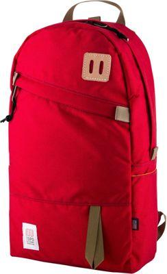 Topo Designs Daypack Laptop Backpack Red - Topo Designs Laptop Backpacks