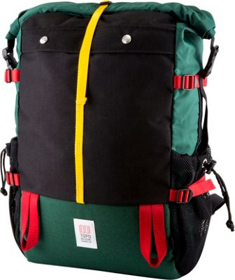 Topo Designs Mountain Roll Top Laptop Backpack Forest - Topo Designs Laptop Backpacks