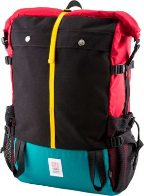 Topo Designs Mountain Roll Top Laptop Backpack Red - Topo Designs Laptop Backpacks