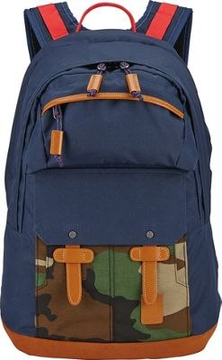 Nixon Canyon Backpack Navy / Woodland Camo - Nixon Everyday Backpacks
