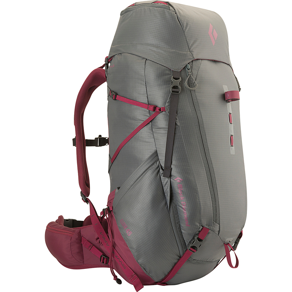 Black Diamond Womens Elixir 45 Hiking Pack Titanium Berry - Small - Black Diamond Backpacking Packs - Outdoor, Backpacking Packs