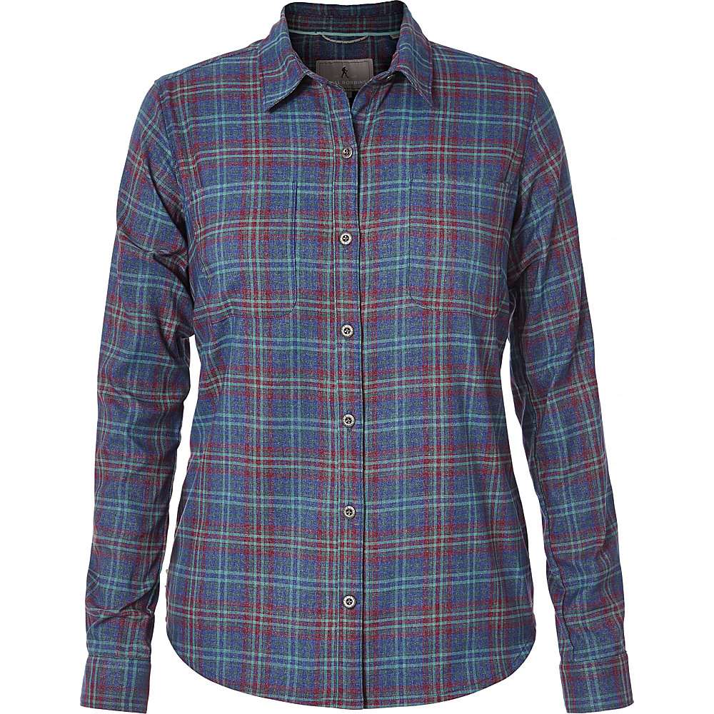 Royal Robbins Womens Performance Plaid Flannel M - Blue Depths - Royal Robbins Womens Apparel - Apparel & Footwear, Women's Apparel
