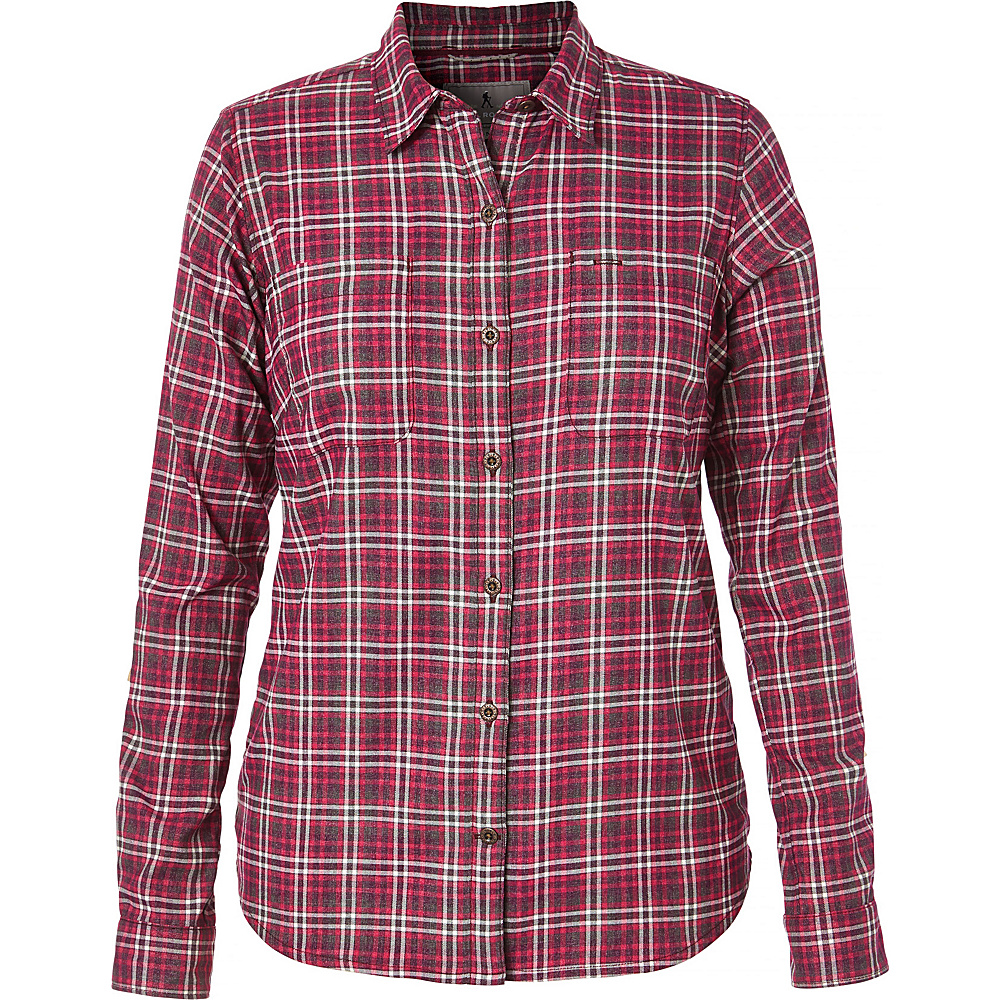 Royal Robbins Womens Performance Plaid Flannel XL - Cerise - Royal Robbins Womens Apparel - Apparel & Footwear, Women's Apparel