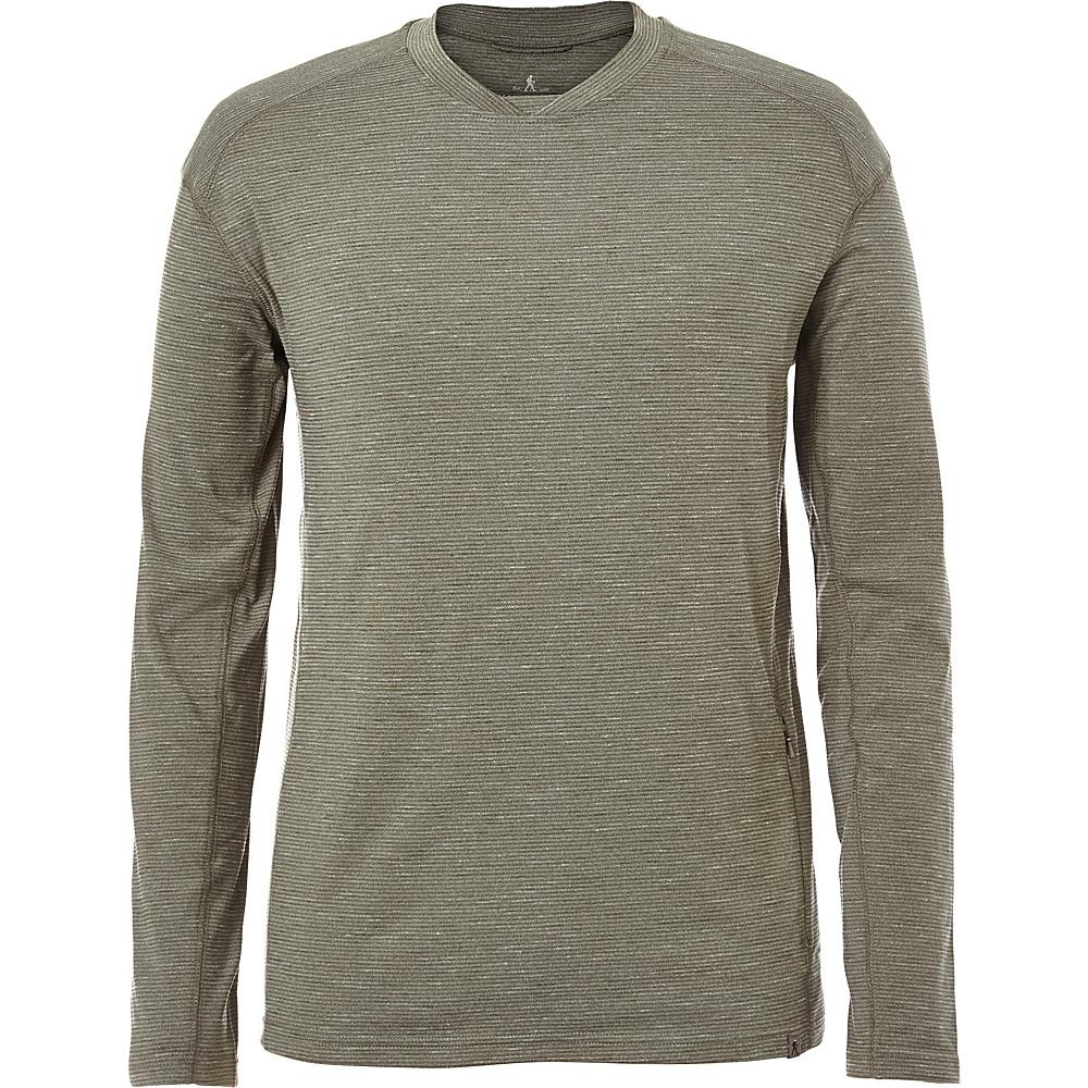 Royal Robbins Mens Long Distance Long Sleeve Shirt M - Climbing Ivy - Royal Robbins Mens Apparel - Apparel & Footwear, Men's Apparel