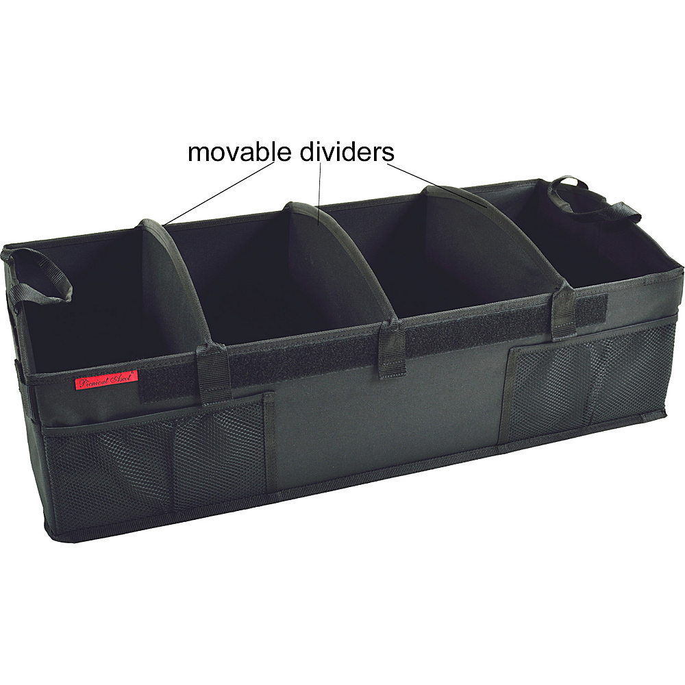 Picnic at Ascot Ultimate Rigid Base Trunk Organizer Black - Picnic at Ascot Trunk and Transport Organization - Travel Accessories, Trunk and Transport Organization