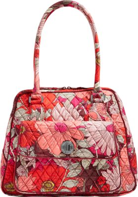 Vera Bradley Turnlock Satchel - Retired Colors Bohemian Blooms - Vera Bradley Fabric Handbags